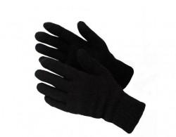 Перчатки  двойные шерстяные, черные