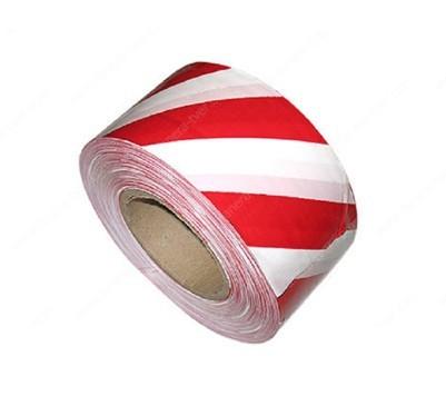 лента сигнальная клейкая бело красная